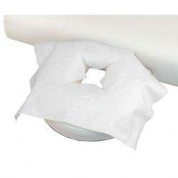 Салфетка на кушетку для лица 40х40 см с прорезью, СМС 20 г/м2, 100 шт