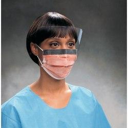 Маски трехслойные медицинские одноразовые с защитным пластиковым экраном