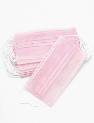 Маски 3-слойные на резинке розовые уп. 50 шт Archdale