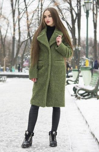 Пальто-шубка по колено, шерсть Millennium 594