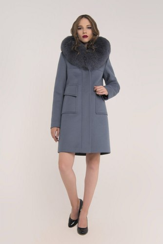 Пальто зимнее с песцовым воротником Millennium 590