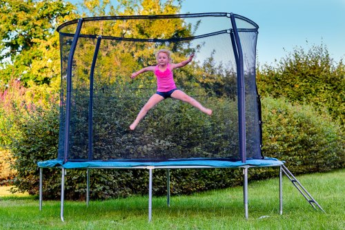 Батут с сеткой до 100кг Sky Jump 140см