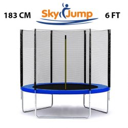Батут с сеткой Sky Jump 183см