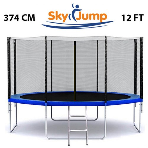 Батут с сеткой Sky Jump 374см