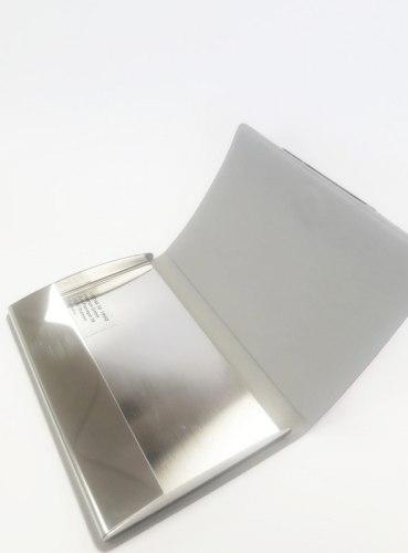 Визитница металлическая с логотипом