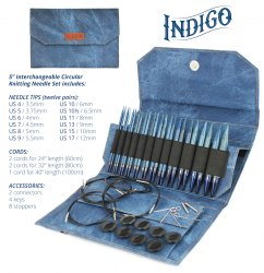 Набор стандартных спиц 12,5 см INDIGO LYKKE