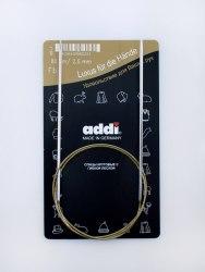 Спицы Addi на золотой леске 80 см