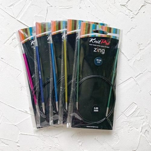 Knit Pro Zing на леске 80 см