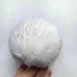 Меховые помпоны из меха кролика 6-7 см