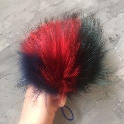 Мультиколор енот (синий, красный, изумрудный) 16-18 см