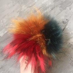 Мультиколор енот (красный, рыжий, изумрудный) 16-18 см