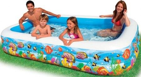 Надувной бассейн Intex Swim Center Tropical Reef 305x183x56 (58485)
