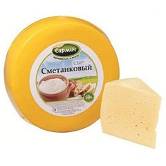 Сыр Сметанковый 45% жирности