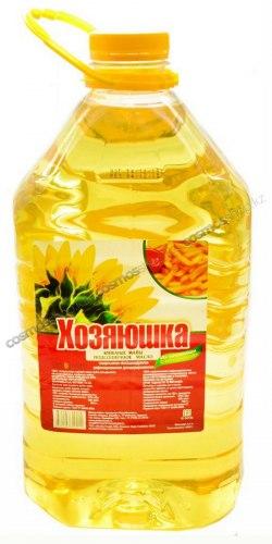 Масло подсолнечное рафинированное Хозяюшка 5 литров