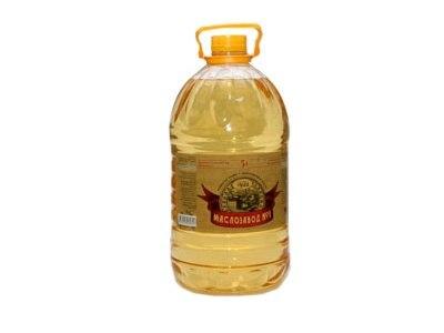 Масло подсолнечное рафинированное Маслозавод 1 5 литров