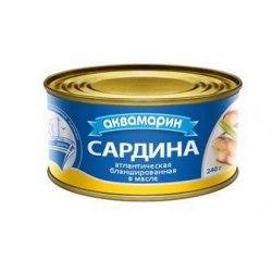 Сардина в масле 240 грамм