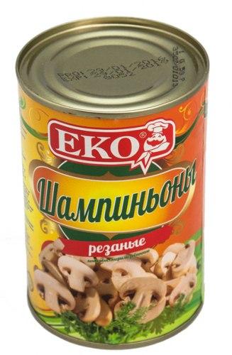 Шампиньоны консервированные Экос 400 гр.