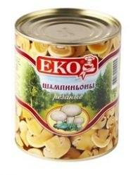Шампиньоны консервированные Экос 800 гр.
