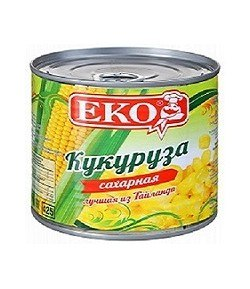 Кукуруза консервированная Экос 425 мл