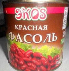 Фасоль красная консервированная Экос 340 гр.