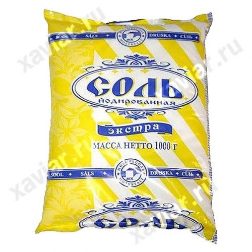 Соль Экстра Полесье вес 1 кг.