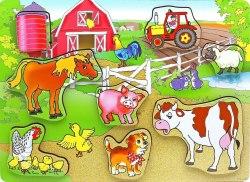 Пазл-вкладыш Житные на Ферме