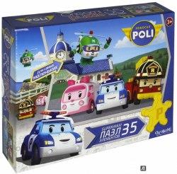 Макси Пазлы для малышей. Робокар Поли. Поздороваемся с Хэли. 35 элементов. Origami