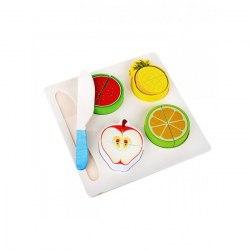 Разрезные фрукты на доске на липучках