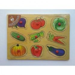 Пазл-вкладыш Овощи