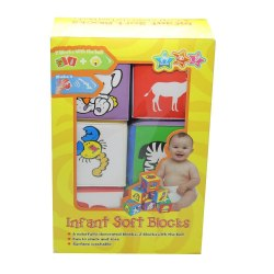 Мягкие кубики для малышей набор 6 шт