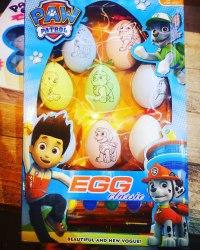 """Пасхальный набор для творчества Щенячий патруль или Кролики """"Разрисуй яйцо"""""""