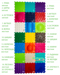 "Коврик ""ОРТО"" Микс 21 пазл ""Крепыш"" Ортодон + подарок"