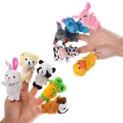 """Мягкие мини игрушки 10 шт """"Пальчиковый театр"""""""