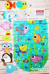 """Набор """"Веселое купание с рыбками"""" большой коврик + 8 мини-ковриков"""