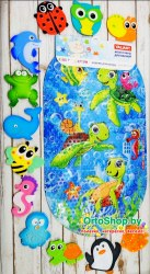 """Набор """"Подводное царство"""" большой коврик на выбор + 12 мини-ковриков"""