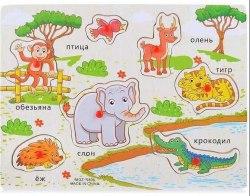 """Деревянный пазл для малышей """"Животные Африки"""""""