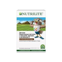 NUTRILITE™ Детские жевательные пастилки с кальцием, магнием и витамином D. Со вкусом шоколада 243 гр / 45 пастилок