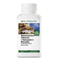 NUTRILITE™ Жевательные таблетки с кальцием и магнием 80 табл. NUTRILITE™