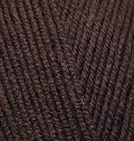 Alize Lanagold Fine, цвет 26 коричневый Alize 49% шерсть, 51% акрил, длина в мотке 390 м.