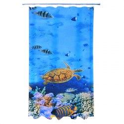 Шторка в ванну полиэстер с утяжелителем. Подводный мир. Фотопечать эконом. арт. 461-480 VETTA размер 180х180 см.