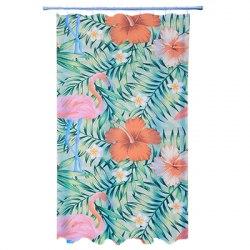 Шторка Южные цветы полиэстер с утяжелителем. Фотопечать эконом. арт. 461-481 VETTA размер 180х180 см.