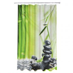 Шторка Камни полиэстер с утяжелителем. Дизайн GC. арт. 461-457 VETTA размер 180х180 см.