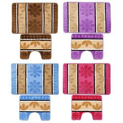 Набор ковриков Полосатые, полиэстер. арт. 466-251 VETTA размер 50х80 см. +50х40 см.