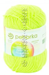 Детская новинка, цвет 463 флавиновый ООО Пехорский текстиль 100% высокообъемный акрил, длина 200м в мотке