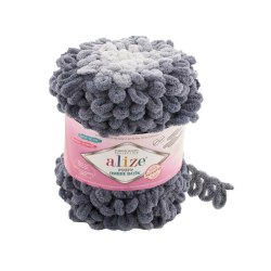 Alize Puffy Ombre Batik, цвет 7421 серый Alize 100% микрополиэстер, длина 55 м в мотке