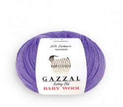 Пряжа Gazzal Baby Wool Gazzal 40% шерсть мериноса, 20% кашемир, 40% акрил, длина 175м в мотке