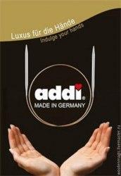 Спицы Addi круговые супергладкие 80 см 5,5 Addi 105-7 Металлические круговые