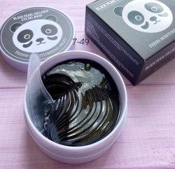Гидрогелевые патчи для глаз гидрогелевые Black Pearl Collagen Eye Gel Mask с экстрактом черного жемчуга