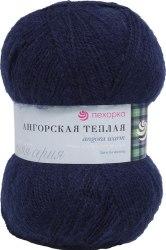 Пехорка Ангорская теплая цвет 04 темно синий ООО Пехорский текстиль 40% шерсть, 60% акрил, длина 480м в мотке