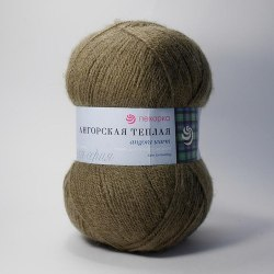 Пехорка Ангорская теплая цвет 478 защитный ООО Пехорский текстиль 40% шерсть, 60% акрил, длина 480м в мотке